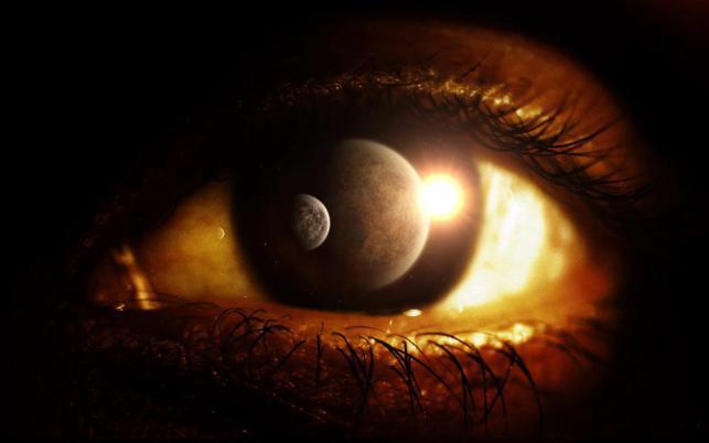 An Eyelid Slowly Awakens to Dawn