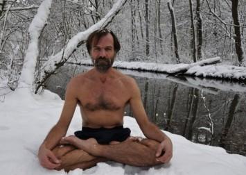 Wim Him Hof practicing tummo meditation