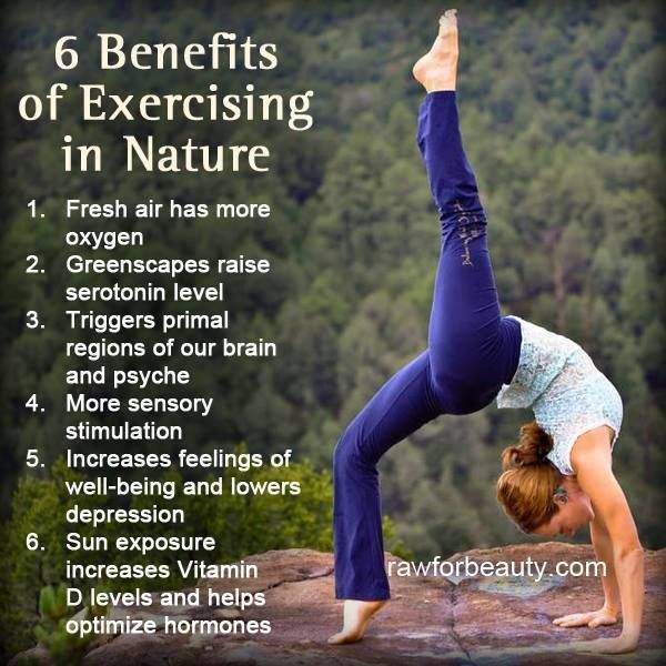6 benefits of exercising in nature u22c6 shift