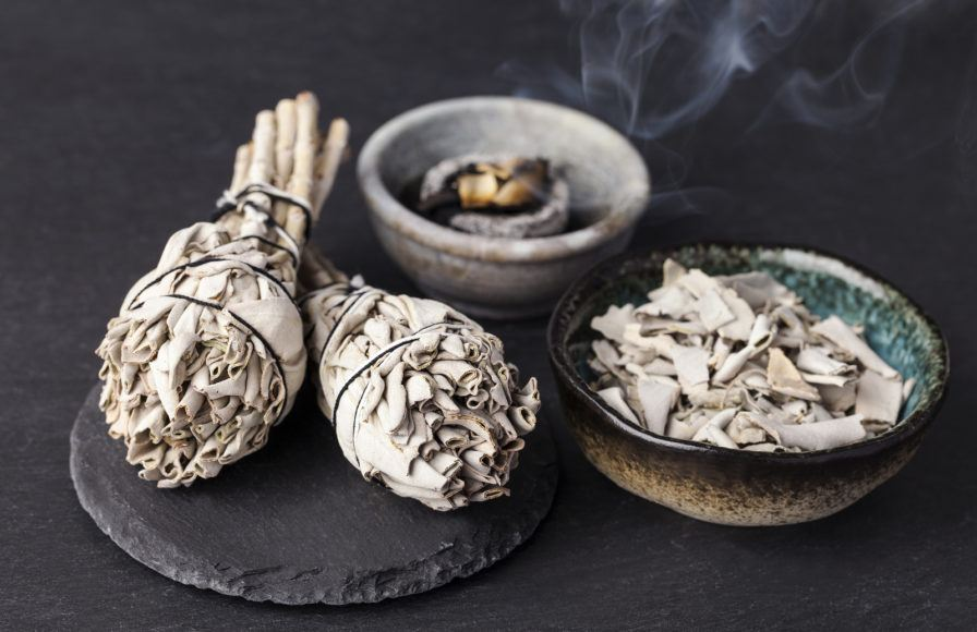 sage smudging wand