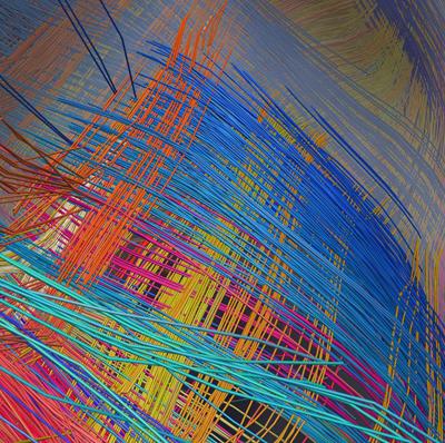Grid pattern in a monkey brain