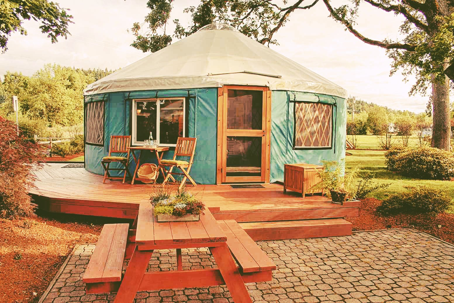 off-grid yurt home