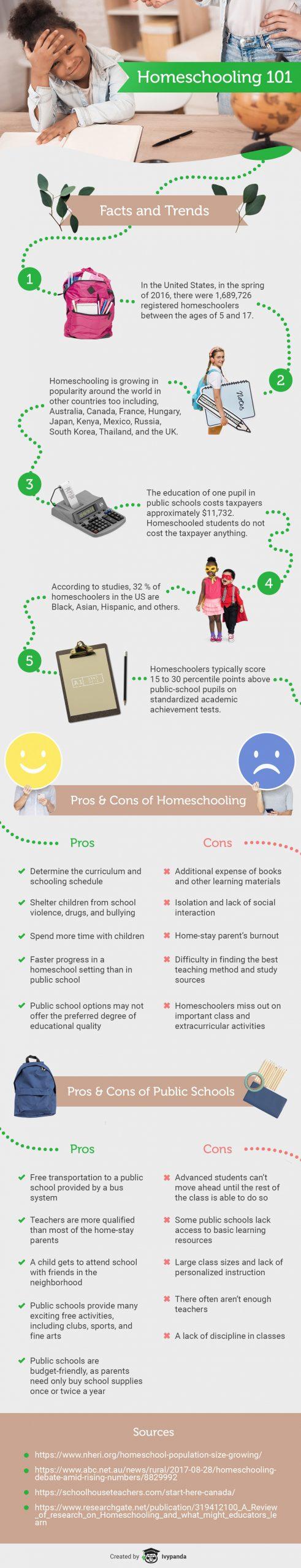 homeschooling infographic
