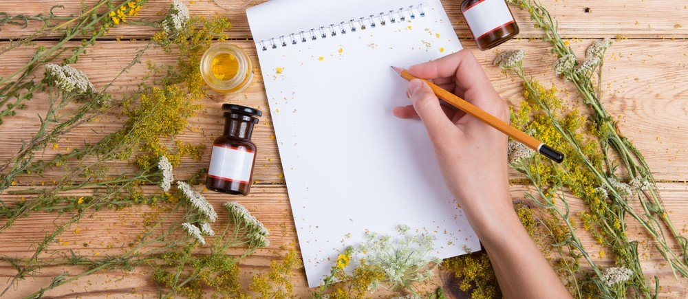 writing with herbs
