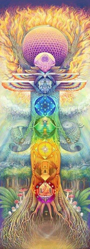 chakras visionary art