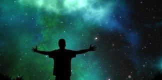 man open arms universe
