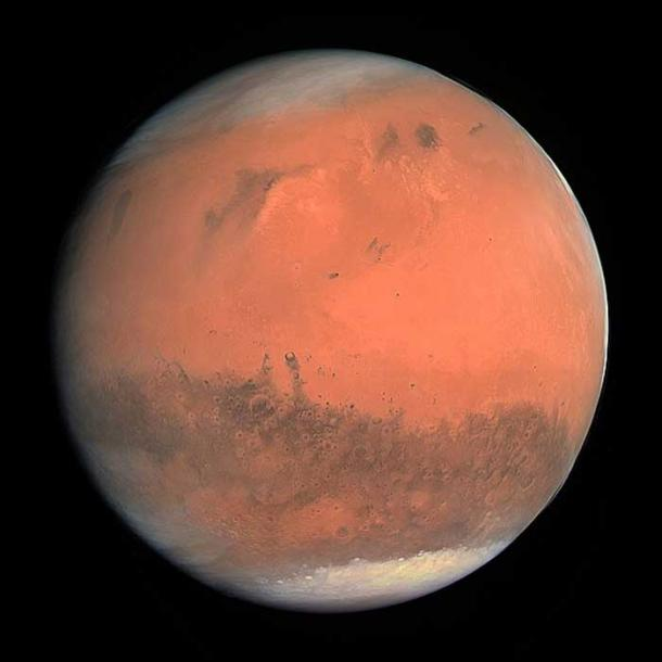 true color mars red planet