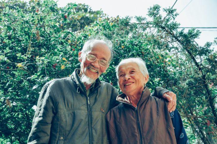 senior janapese couple