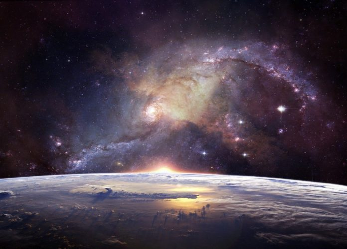 galaxy above earth